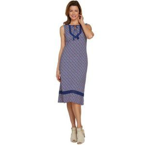 C. Wonder Regular Printed Knit Midi Dress